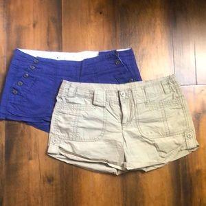 2 pairs Short Shorts